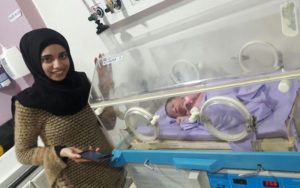 refugee baby in the NICU