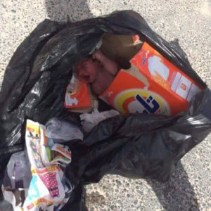 syrian refugee baby left to die in the garbage