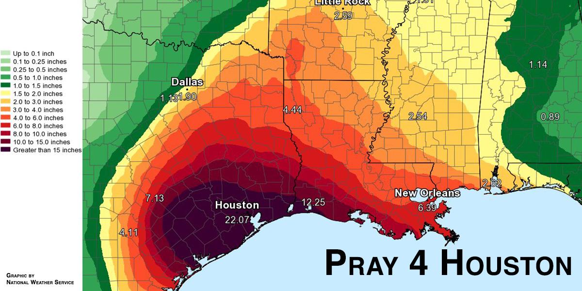 Hurricane Harvey in Houston