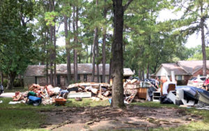 hurricane harvey relief clearing debris