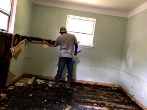 harvey flood relief drywall clearing