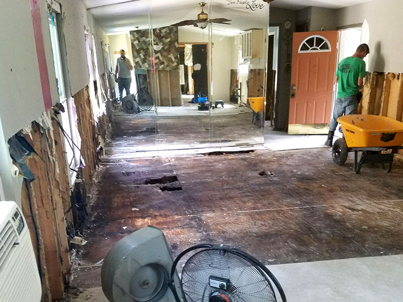 harvey relief gutted floors