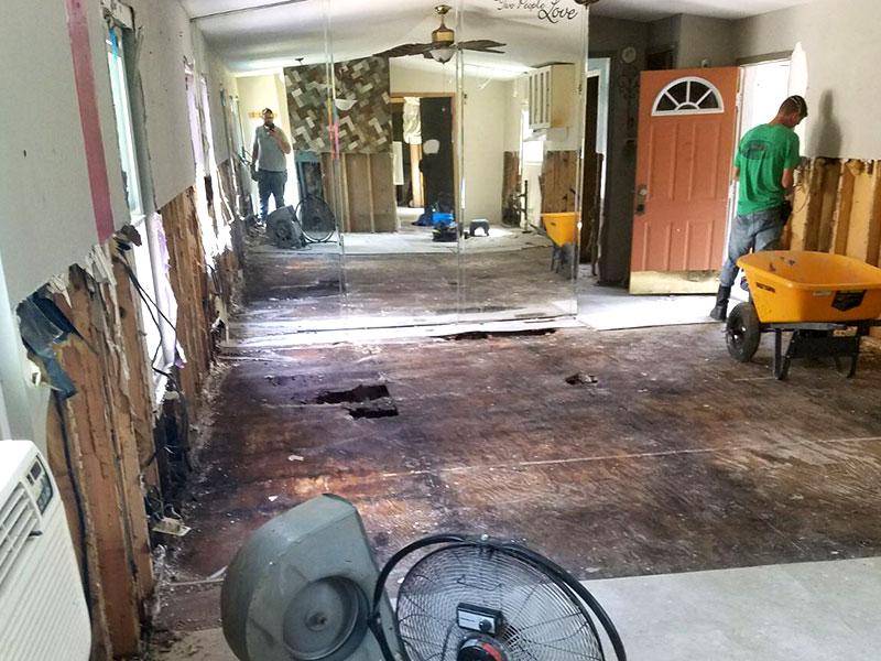 harvey relief gutted floors