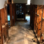 harvey relief gutted hallways