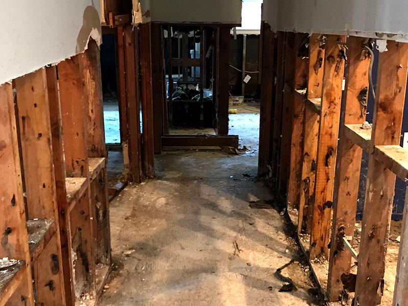 harvey relief gutted hallways