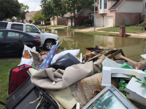 Harvey Relief cleaning out homes
