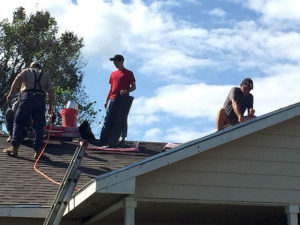 Harvey relief rebuilding in cuero