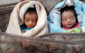 quadruplet babies going home